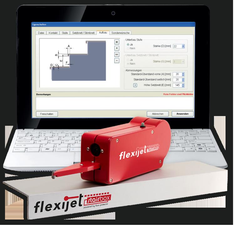 Flexijet Stairbox Step Measurement System