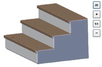 Die Stairbox-Software stellt in einem 3D-Modus alle eingegebenen Projektdaten umgehend als dreidimensionale Skizze zur Verfügung.
