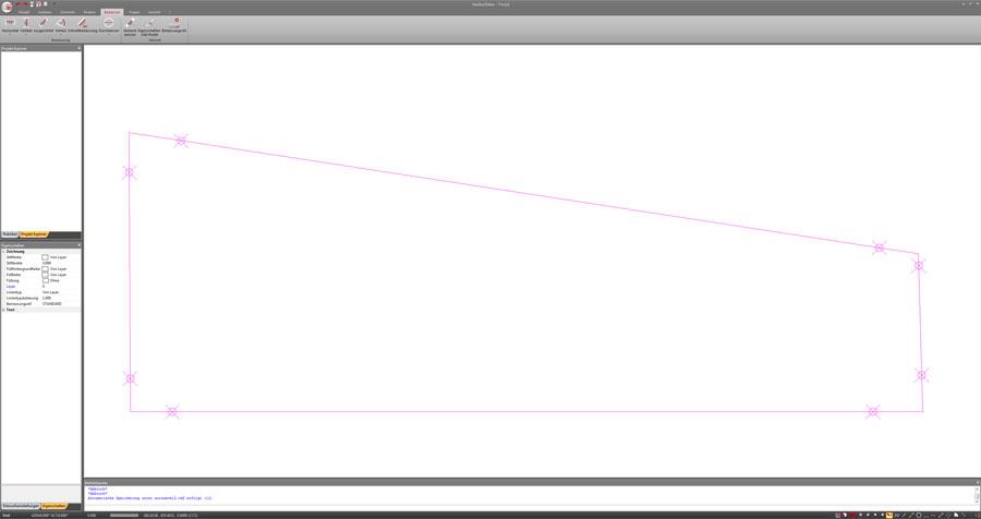Aufmaßzeichnung einer Schablone in der FlexiCAD 2D Edition für die Stairbox360°