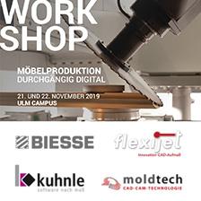 Workshop Möbelproduktion durchgehend digital